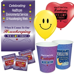 """When it Comes To Our Housekeeping...WE GOT THIS!"" Celebration Party Pack   Environmental Services, Housekeeping, Housekeepers, theme, Appreciation decoration pack,  Housekeeping Appreciation theme Party Pack, Housekeepers, Celebration Pack, EVS & Housekeeping, Celebration Pack,"