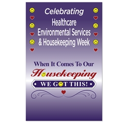 """When it Comes To Our Housekeeping...WE GOT THIS!"" Theme 11 x 17"" Posters (Sold in Packs of 10)  Housekeeping Week, International Housekeepers Week, Environmental Services Week, Theme, Posters, Poster, Celebration Poster, Appreciation Day, Recognition Theme Poster,"