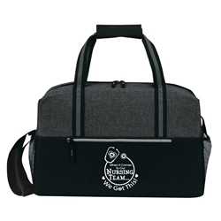 """When it Comes To Our Nursing Team...We Got This!"" Classic Weekend Duffle  Nursing Theme, 19"" Sport, Deluxe, Duffle, Promotional, Imprinted, Polyester, Travel, Custom, Personalized, Bag"