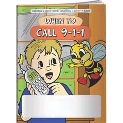 When to Call 9-1-1 Coloring Book When to Call 9-1-1 Coloring Book, BetterLifeLine, BetterLife, Education, Educational,  information, Informational, Wellness, Guide, Brochure, Paper, Low-cost, Low-Price, Cheap, Instruction, Instructional, Booklet, Small, Reference, Interactive, Learn, Learning, Read, Reading, Health, Well-Being, Living, Awareness, ColoringBook, ActivityBook, Activity, Crayon, Maze, Word, Search, Scramble, Entertain, Educate, Activities, Schools, Lessons, Kid, Child, Children, Story, Storyline, Stories, EMT, First Aid, Police, 911, Accident, Imprinted, Personalized, Promotional, with name on it, Giveaway,