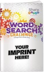 Word Search Challenge Puzzle Book word search puzzles, word search puzzle book, promotional games, promotional puzzles, seniors promotions