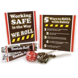 """Working Safe Is The Way We Roll"" Tootsie Roll & Tootsie Pop Mini Care Package Safety, Incentive, Treat, Safety Candy Treat, Safety Reminder Treat, Tootsie Roll, Tootsie Pop, Kit, Pack,"