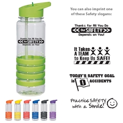 Workplace Safety Reminder 24 Oz. Banded Gripper Bottle With Straw  Workplace Safety Reminders, 24 Oz. Banded Gripper Bottle With Straw, Banded, Gripper, Bottle, with, straw, Awareness, Sport, Water, Event, Walks, Run, Imprinted, Personalized, Promotional, with name on it, Gift Idea, Giveaway,