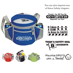 Workplace Safety Reminder 6-Pack Plus Sport Cooler  Workplace Safety, Safety Reminder, Lunch Cooler, Continental Marketing, Care Promotions, 6-Pack Lunch Cooler, Lunch Bag, Insulated, Barrel, Travel, Sports, Employee, Nurses, Teachers