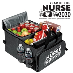 """Year of the Nurse 2020...Whatever It Takes Is The Difference You Make"" Deluxe 40 Cans Cooler Trunk Organizer Nurses Week, Theme, Appreciation, Nurses Appreciation Can Cooler, 40 cans cooler, Trunk Organizer and Cooler, Trunk Organizer and Cooler, Can Cooler and Trunk Organizer, Imprinted, With Logo, With Name On It"