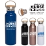 """Year of the Nurse 2020...Whatever it Takes Is The Difference You Make"" 20 oz. Vacuum Bottle with Bamboo Lid  Nurses, Appreciation, Nursing, Recognition, Bamboo Lid Bottle, Vacuum Bottle, Bamboo Lid, Bottle, corporate holiday gifts, employee appreciation gifts, business gifts"