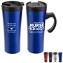 """Year of the Nurse 2020...Whatever it Takes Is The Difference You Make"" Outback 16 oz. Travel Mug  Nurses Appreciation theme, Nurses Recognition Travel Mug, Nursing Appreciation, Travel Mug, Steel Travel Mug, Under $6 Travel Mug, bottle, promotional drinkware, custom vacuum insulated drinkware, employee wellness gifts, fitness promotional items"
