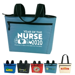 """Year of the Nurse 2020...Whatever it Takes Is The Difference You Make"" Two-Tone 12 Pack Cooler Tote Nurses Recognition, Tote, Nursing Appreciation, Nurses Appreciation, Cooler, All Purpose, XL, 12 pack, Promotional, Imprinted, Thermal, Tote, Beverage, 20-Pack, Gift, Insulated, Reusable"