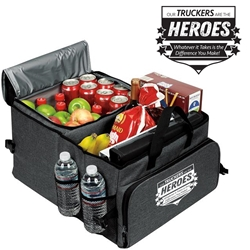 """Year of the Trucker 2020...Thank You for Kicking Ass During the Pandemic!"" Deluxe 40 Cans Cooler Trunk Organizer   Truck Driver, Trucker, Truckers, Theme, Appreciation, Appreciation Can Cooler, 40 cans cooler, Trunk Organizer and Cooler, Trunk Organizer and Cooler, Can Cooler and Trunk Organizer, Imprinted, With Logo, With Name On It"