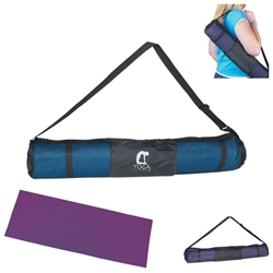 Yoga Mat And Carrying Case Yoga Mat And Carrying Case, Yoga, Mat, Carrying, Case,With, Imprinted, Personalized, Promotional, with name on it, giveaway,