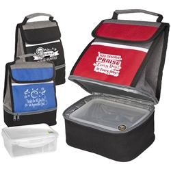 """You Deserve Praise Every Day in Every Way"" Replenish Store N Carry Lunch Box  Lunch Cooler, with, Lunch Plate, lunch plate cooler, lunch bag plate set,  personalized, with logo, imprinted"