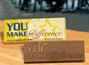 """You Make the Difference"" Chocolate Bar Employee Appreciation, Employee Recognition, Holiday Gifts, Business Gifts, Corporate Gifts, Holiday Parties, chocolate, Appreciation Gifts"