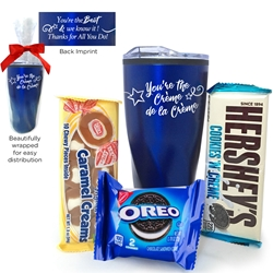 """Youre The Crème De La Crème"" Tumbler Gift Set  Employee Appreciation Holiday Tumbler, Set, Recognition Tumbler Set, Holiday, Tumbler, Gift Set,  Stainless Steel Tumbler, 20 oz tumbler, Imprinted Tumblers, Stainless Steel Tumblers, Care Promotions,"