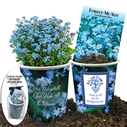 Your Efforts Are Unforgettable Forget-Me-Not Flower Planter Gift Set | Employee Appreciation Ideas | Care Promotions