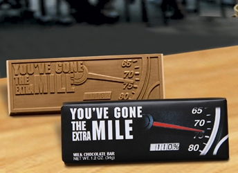 Youve Gone the Extra Mile Chocolate Bar Employee Appreciation, Employee Recognition, Holiday Gifts, Business Gifts, Corporate Gifts, Holiday Parties, chocolate, Appreciation Gifts