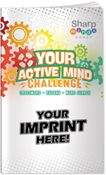 Your Active Mind Challenge Puzzle Book crossword puzzles, crossword puzzle book, sudoku puzzles, sudoku puzzle book, word search puzzles, word search puzzle book, promotional games, promotional puzzles, seniors promotions