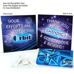 Your Efforts Are Out of this Orbit Gum Kit | Employee Appreciation Gifts | Care Promotions