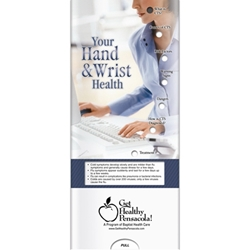 Your Hand and Wrist Health Pocket Slider BetterLifeLine, BetterLife, Education, Educational, information, Informational, Wellness, Guide, Brochure, Paper, Low-cost, Low-Price, Cheap, Instruction, Instructional, Booklet, Small, Reference, Interactive, Learn, Learning, Read, Reading, Health, Well-Being, Living, Awareness, PocketSlider, Slide, Chart, Dial, Bullet Point, Wheel, Pull-Down, SlideGuide, Safe, Safety, Protect, Protection, Hurt, Accident, Violence, Injury, Danger, Hazard, Emergency, First Aid, The Positive Line, Positive Promotions