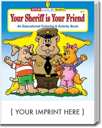 Your Sheriff is Your Friend Coloring & Activity Book | Care Promotions