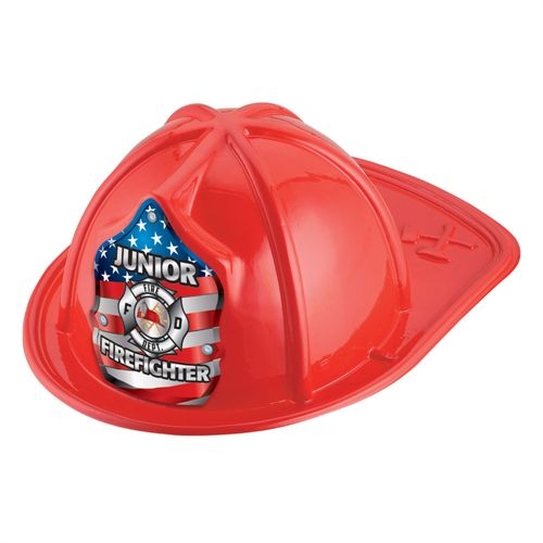 Kids Plastic Junior Firefighter Hat | Care Promotions